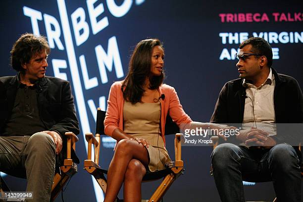 Andrew Luno Rula Jebreal and Namir Abdel Messeeh attend Tribeca Talks After The Movie 'Virgin The Copts And Me' during the 2012 Tribeca Film Festival...