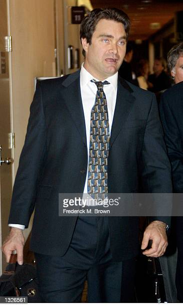 Andrew Luster heir to the $30 million Max Factor cosmetics fortune leaves the Ventura County Courthouse July 10 2001 after appearing on sexual...