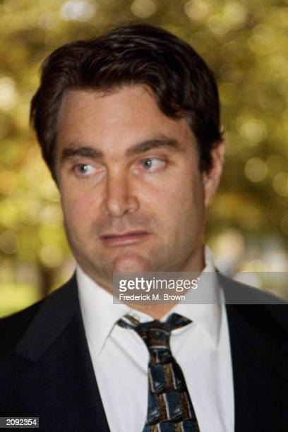 Andrew Luster heir to the $30 million Max Factor cosmetics fortune leaves the Ventura County Courthouse after appearing on sexual assault charges...