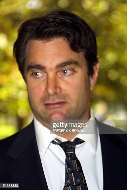 Andrew Luster leaves Ventura CA Superior Court on 10 July 2001 Luster heir to the Max Factor cosmetics fortune appeared before the court 10 July on...