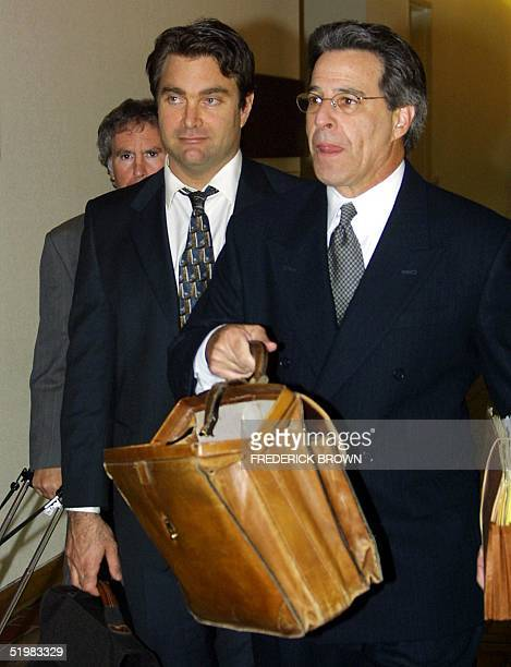 Andrew Luster leaves Ventura CA Superior Court with this attorney Joel R Isaacson 10 July 2001 Luster heir to the Max Factor cosmetics fortune...