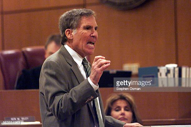 Andrew Luster's attorney Roger Diamond makes closing arguments to the jury defending Luster against charges of rape Ventura County Superior Court...