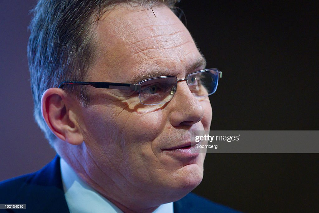 Andrew Mackenzie, chief executive officer for non-ferrous at BHP Billiton Ltd., speaks during a news conference in Sydney, Australia, on Wednesday, Feb. 20, 2013. BHP Billiton, the world's biggest mining company, named its copper unit head Andrew Mackenzie as chief executive officer to succeed Marius Kloppers before reporting a 58 percent decline in first-half profit. Photographer: Ian Waldie/Bloomberg via Getty Images