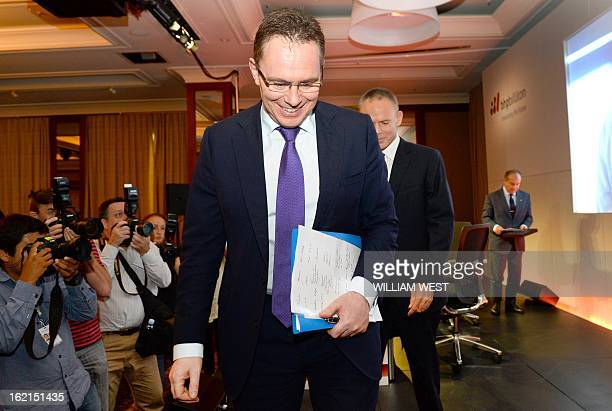 Andrew Mackenzie leaves a press conference where it was announced he would replace BHP Billiton CEO Marius Kloppers on May 10 in Sydney on February...