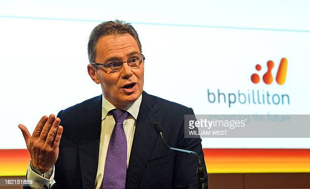 Andrew Mackenzie speaks as it is announced he will be replacing Marius Kloppers as BHP Billiton CEO in Sydney on February 20 2013 The 56yearold...