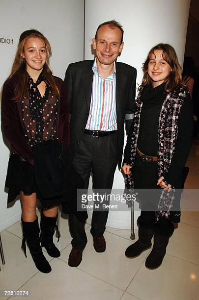 Andrew Marr and his daughters Isabelle and Emily attend the National English Ballet Christmas party at St Martins Hotel December 12 2006 in London...