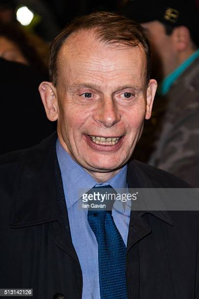 Andrew Marr arrives for the Gala performance of 'The Maids' at Trafalgar Studios on February 29 2016 in London England