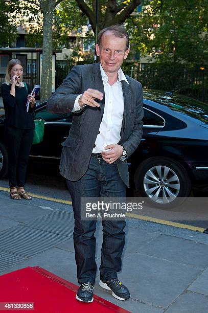 Andrew Marr attends a gala performance of Matthew Bourne's The Car Man at Sadlers Wells Theatre on July 19 2015 in London England