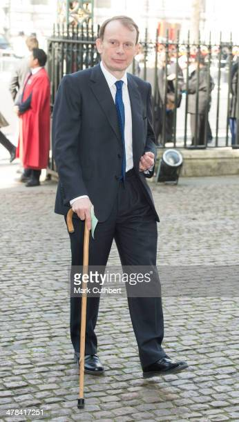 Andrew Marr attends a memorial service for Sir David Frost at Westminster Abbey on March 13 2014 in London England