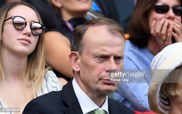 Andrew Marr attends day 11 of Wimbledon 2017 on July 13 2017 in London England