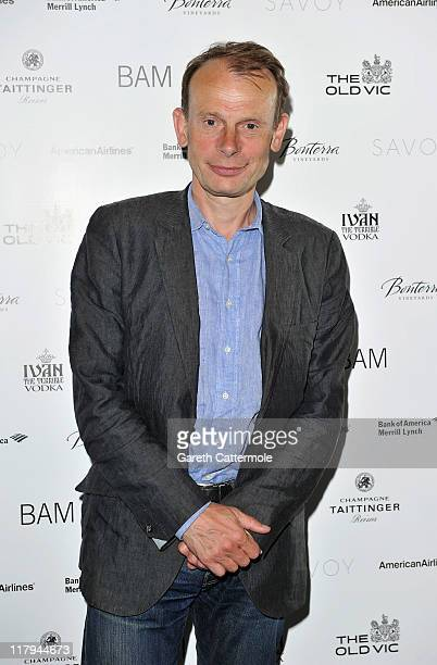 Andrew Marr attends the after party for the opening night of Richard III at The Savoy on June 29 2011 in London England Richard III directed by Sam...