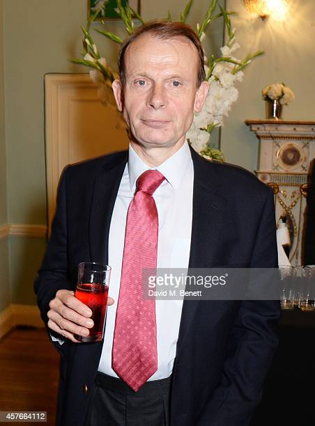 Andrew Marr attends the launch of Boris Johnson's new book The Churchill Factor How One Man Made History at Dartmouth House on October 22 2014 in...