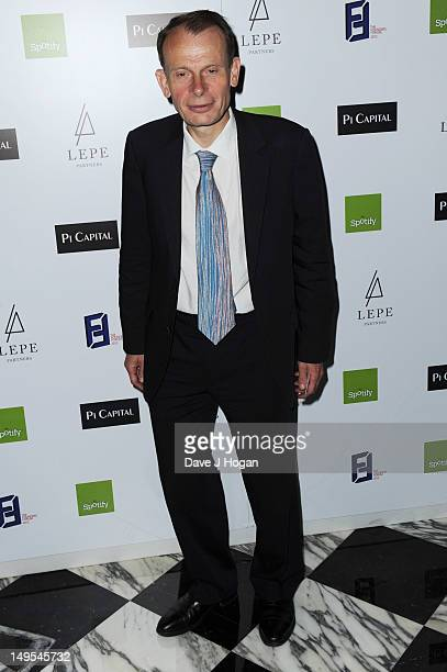 Andrew Marr attends the UK Creatives Drinks Reception celebrating media arts sport and creativity in the UK at Dover Arts Club on July 30 2012 in...