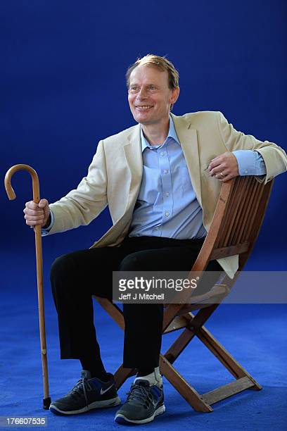 Andrew Marr journalist and broadcaster appears for a portrait at the Edinburgh International Book festival on August 16 2013 in Edinburgh Scotland...