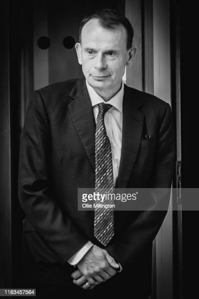 Andrew Marr leaves BBC Broadcasting House after The Andrew Marr Show on July 21st 2019 in London England
