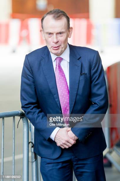 Andrew Marr leaves the BBC after filming 'The Andrew Marr Show' at BBC Broadcasting House on November 17 2019 in London England