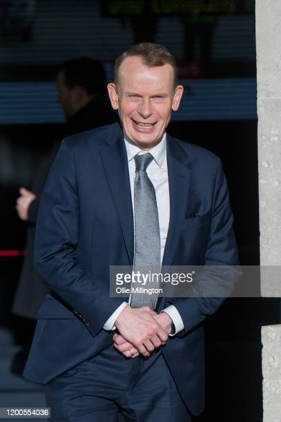 Andrew Marr leaves the BBC aftr his Political Sunday Morning Show at BBC Broadcast House on on January 19 2020 in London England
