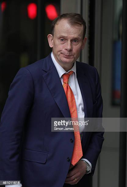 Andrew Marr sighting at the BBC on January 4 2015 in London England
