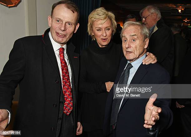 Andrew Marr Tina Brown and Harold Evans attend the film premiere of 'Attacking The Devil' at Picturehouse Central on January 13 2016 in London England