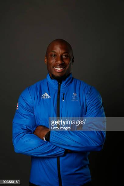 Andrew Matthews poses at The Team GB Kitting Out Ahead Of Pyeongchang 2018 Winter Olympic Games on January 23 2018 in Stockport England