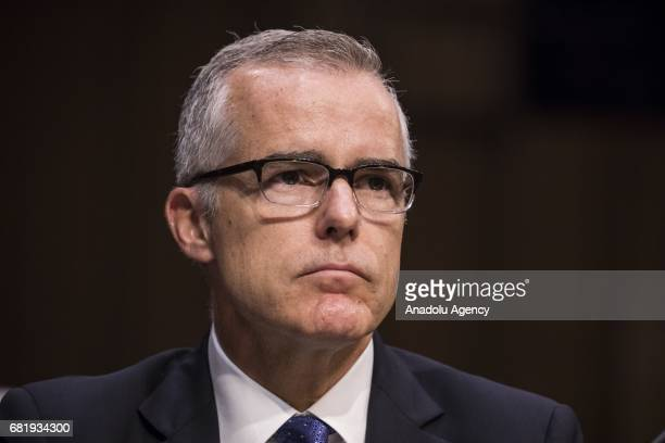 Andrew McCabe Acting Director of the FBI after President Trump fired James Comey during a Senate Select Committee on Intelligence hearing on...