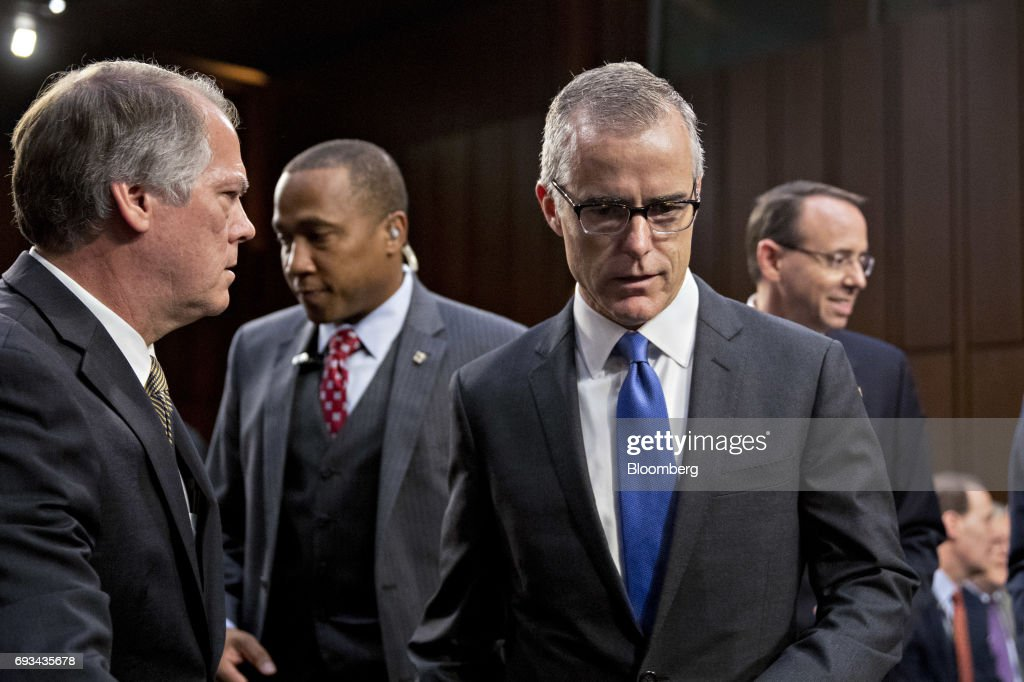 Agency Chiefs Testify Before Senate Intelligence Committee On Foreign Intelligence Surveillance Act : News Photo