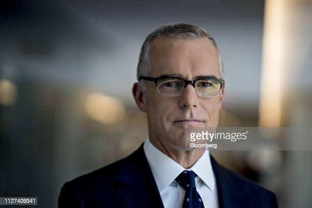 Andrew McCabe former deputy director of the Federal Bureau of Investigation stands for a photograph following an interview in Washington DC US on...