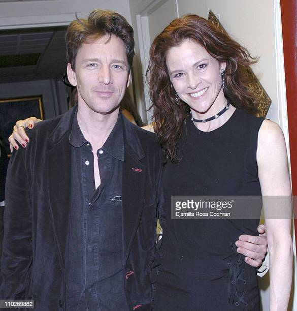 Andrew McCarthy and Ally Sheedy during 'The Vagina Monologues' New York City Reception April 1 2006 at All Souls Unitarian Church in New York City...