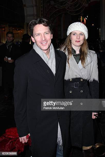 Andrew McCarthy and Carol Schneider attend The Opening Night of NOVEMBER at Ethel Barrymore Theatre on January 17 2008 in New York City