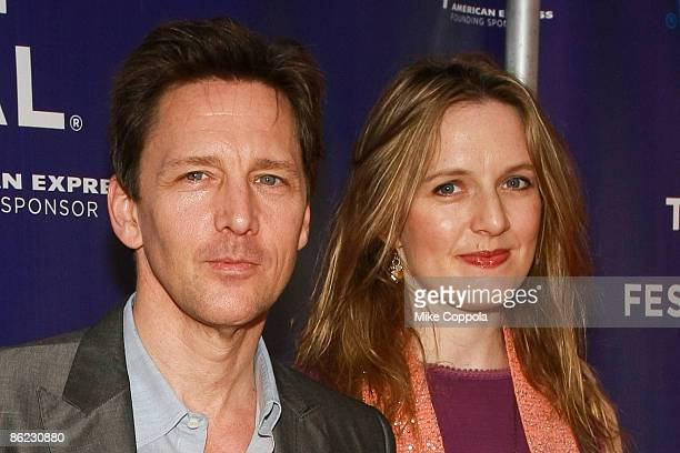Andrew McCarthy and Carol Schneider attend the premiere of The Good Guy during the 8th Annual Tribeca Film Festival at the SVA Theater on April 26...