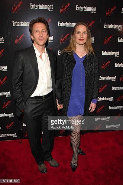 Andrew McCarthy and Dolores Rice attend ENTERTAINMENT WEEKLY host Upfront party at Bowery Hotel NYC on May 13 2008