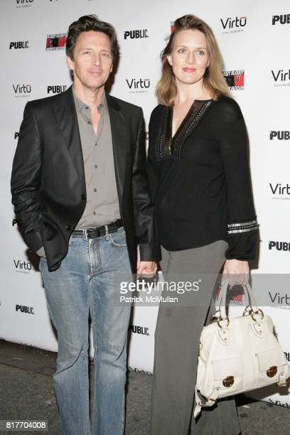Andrew McCarthy and Dolores Rice attend OPENING NIGHT of BLOODY BLOODY ANDREW JACKSON at The Bernard B Jacobs Theatre on October 13 2010 in New York...