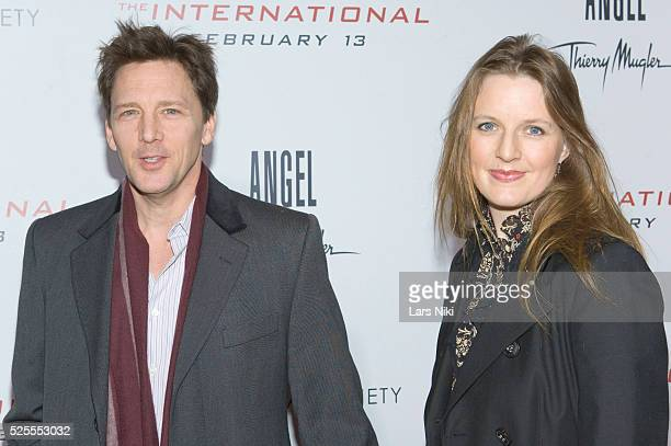 "Andrew McCarthy and Dolores Rice attend the Cinema Society And Angel By Thierry Mugler screening of ""The International"" at the AMC Lincoln Square in..."