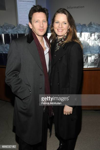 "Andrew McCarthy and Dolores Rice attend THE CINEMA SOCIETY & ANGEL BY THIERRY MUGLER host the after party for ""THE INTERNATIONAL"" at Guggenheim..."