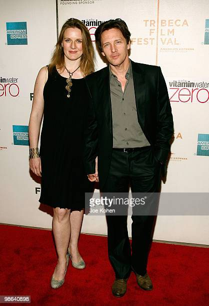 "Andrew McCarthy and Dolores Rice attend the premiere of ""Nice Guy Johnny"" during The 2010 Tribeca Film Festival at the Tribeca Performing Arts Center..."