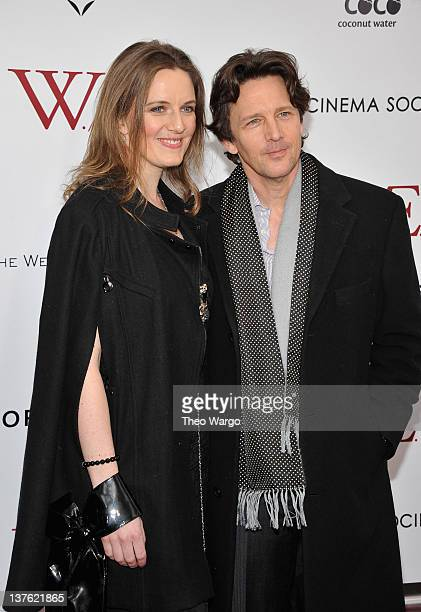 Andrew McCarthy and Dolores Rice attend The Weinstein Company with The Cinema Society Forevermark premiere of WE at the Ziegfeld Theater on January...