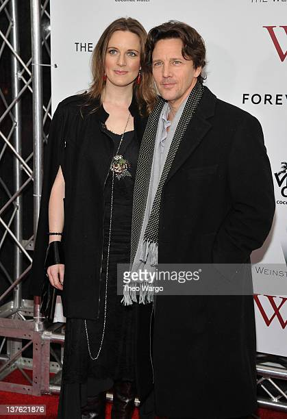 Andrew McCarthy and Dolores Rice attend The Weinstein Company with The Cinema Society Forevermark premiere of 'WE' at the Ziegfeld Theater on January...