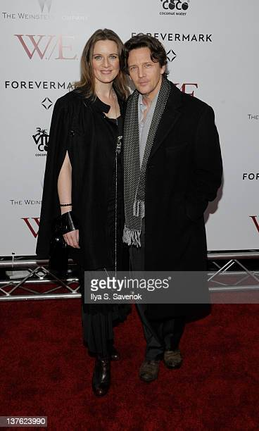 "Andrew McCarthy and Dolores Rice attend The Weinstein Company with The Cinema Society & Forevermark premiere of ""W.E."" at the Ziegfeld Theater on..."