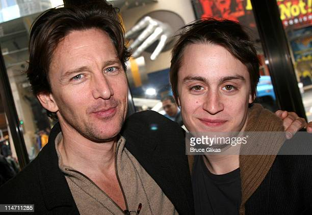 Andrew McCarthy and Kieran Culkin during 24 Hour Plays Rehearsal October 23 2006 at American Airlines Theatre in New York City New York United States