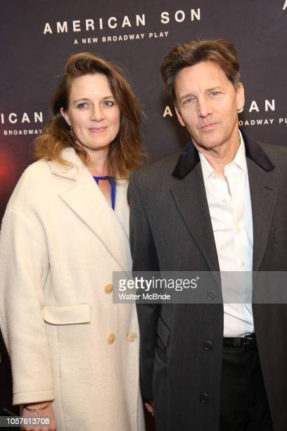 Andrew McCarthy and wife attend the Broadway Opening Night of 'American Son' at the Booth Theatre on November 4 2018 in New York City