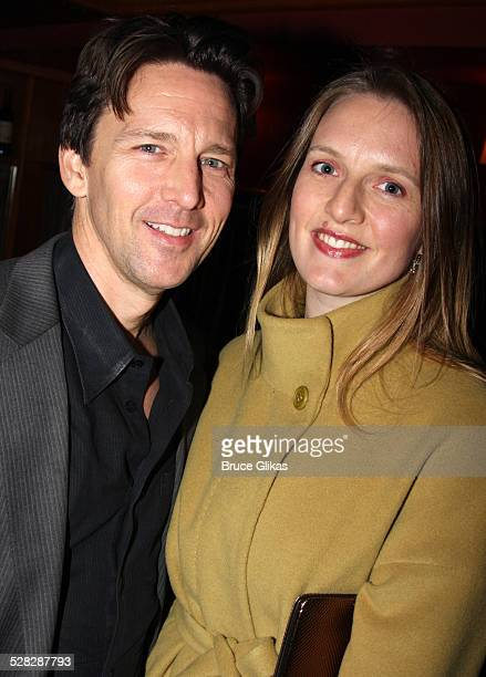 Andrew McCarthy and wife Carol Schneider pose at the opening night after party for Speed the Plow at the Red Eye Grill on October 23 2008 in New York...