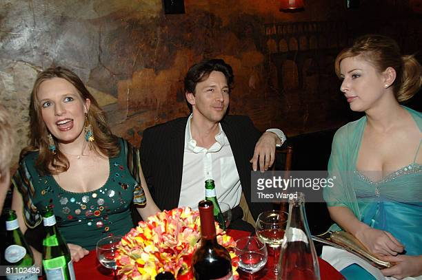 Andrew McCarthy wife Carol Schneider and Diane Neal