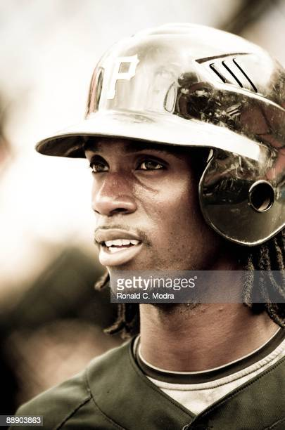 Andrew McCutchen of the Pittsburgh Pirates during batting practice before a MLB game against the Florida Marlins at LandShark Stadium on July 3 2009...