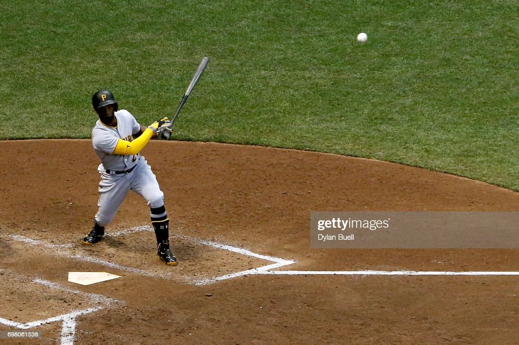 Andrew McCutchen #22 of the Pittsburgh Pirates hits a home run in the sixth inning against the Milwaukee Brewers at Miller Park on June 19, 2017 in Milwaukee, Wisconsin.