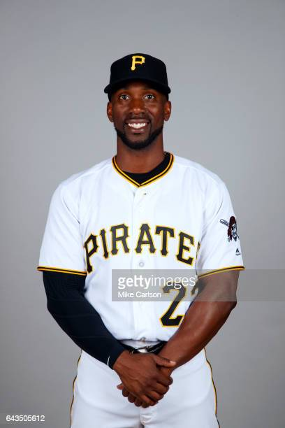 Andrew McCutchen of the Pittsburgh Pirates poses during Photo Day on Sunday February 19 2017 at LECOM Park in Bradenton Florida