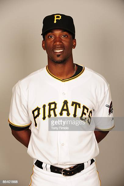 Andrew McCutchen of the Pittsburgh Pirates poses during Photo Day on Sunday February 22 2009 at McKechnie Park in Bradenton Florida