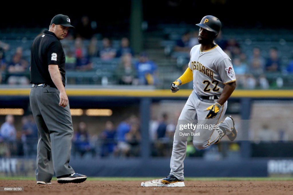 Andrew McCutchen #22 of the Pittsburgh Pirates rounds the bases after hitting a home run in the third inning against the Milwaukee Brewers at Miller Park on June 20, 2017 in Milwaukee, Wisconsin.