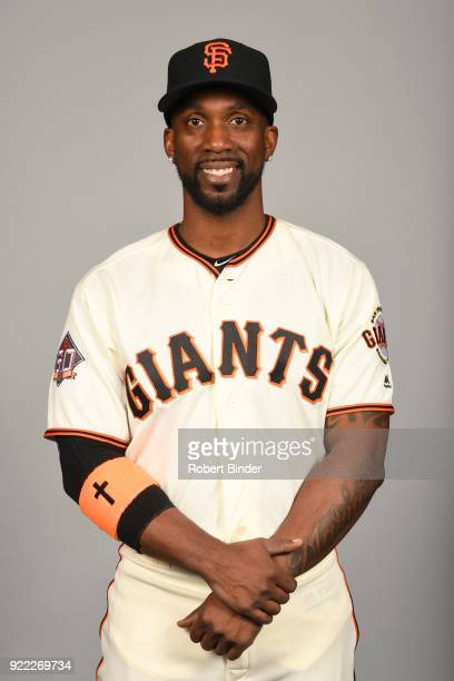 Andrew McCutchen of the San Francisco Giants poses during Photo Day on Tuesday February 20 2018 at Scottsdale Stadium in Scottsdale Arizona
