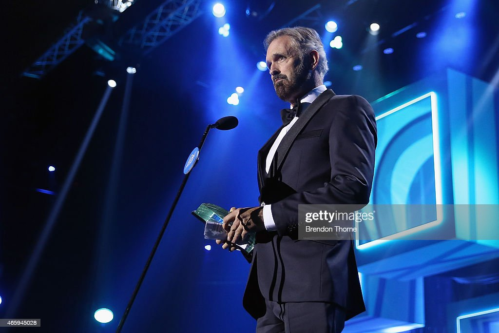 Andrew McFarlan accepts the award for Most Oustanding performance by an Actor - Male on stage during the 2015 ASTRA Awards at The Star on March 12, 2015 in Sydney, Australia.