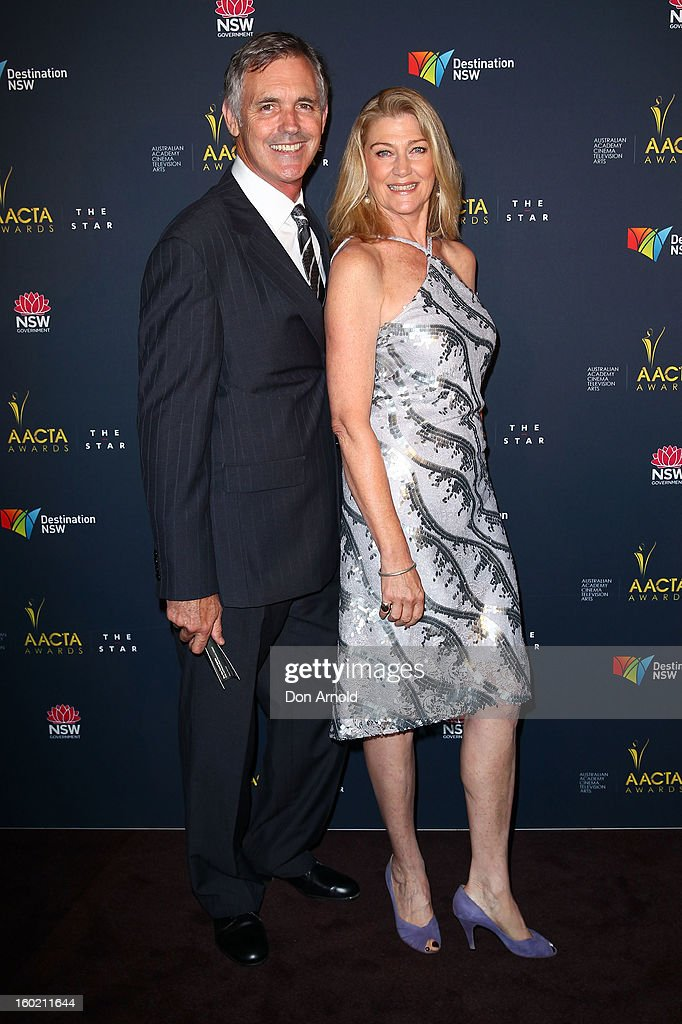 Andrew McFarlane and Tina Bursill pose during the 2nd Annual AACTA Awards Luncheon at The Star on January 28, 2013 in Sydney, Australia.